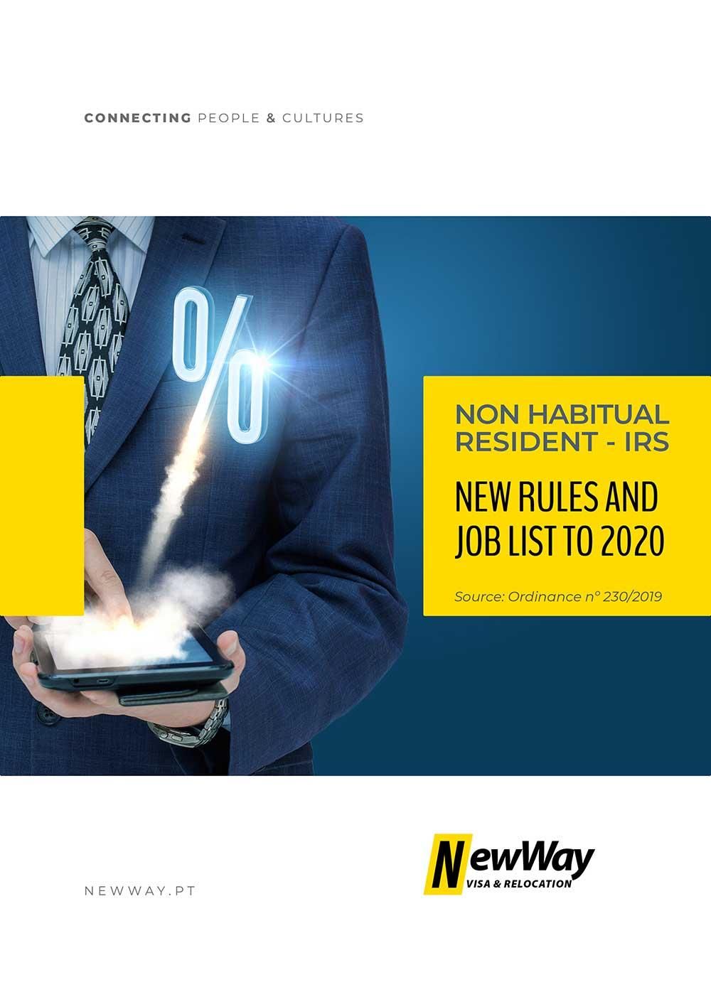 IRS Residente Não Habitual Mudanças Para 2020