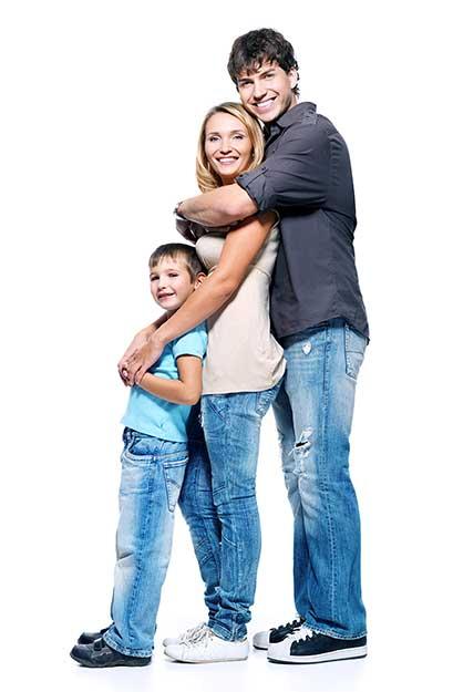 Família expatriada e feliz